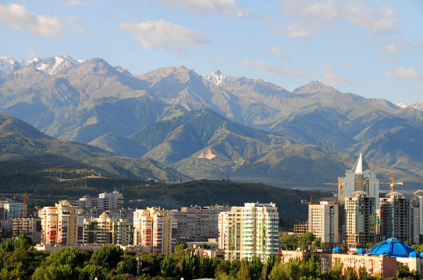 Almaty skyline stock photo
