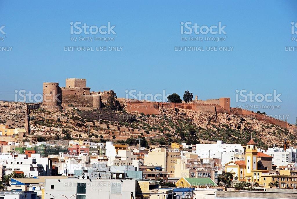 Almeria Castle. stock photo