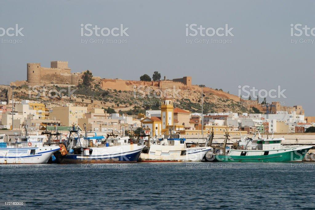 Almeria Harbour stock photo
