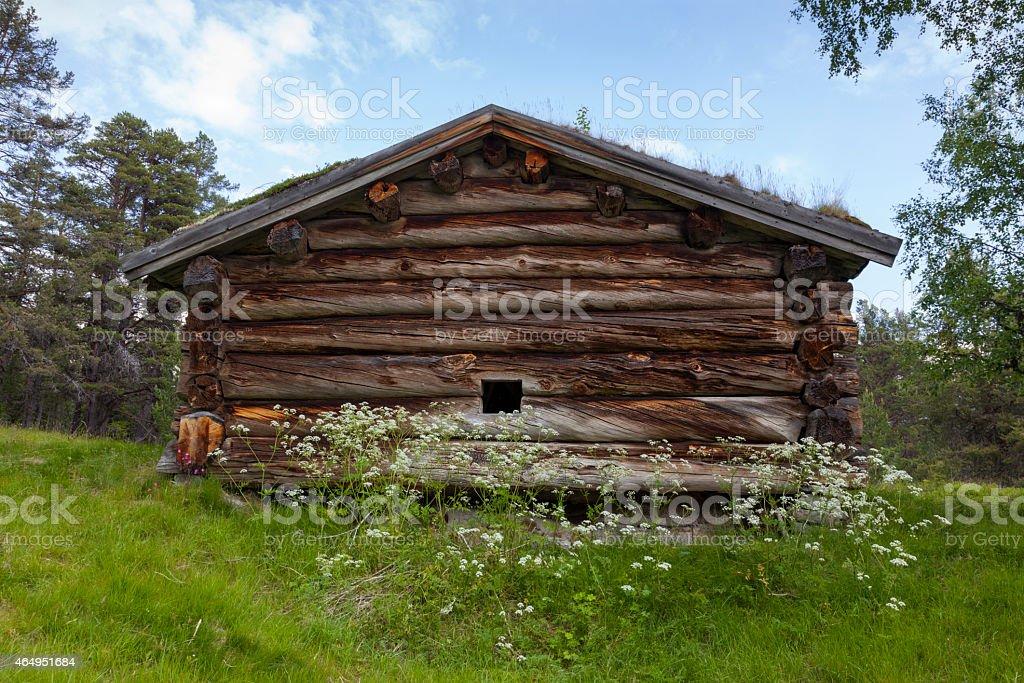 Almhütte-Berghütten in den Bergen – Foto