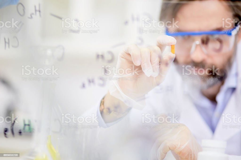 Almighty pill stock photo