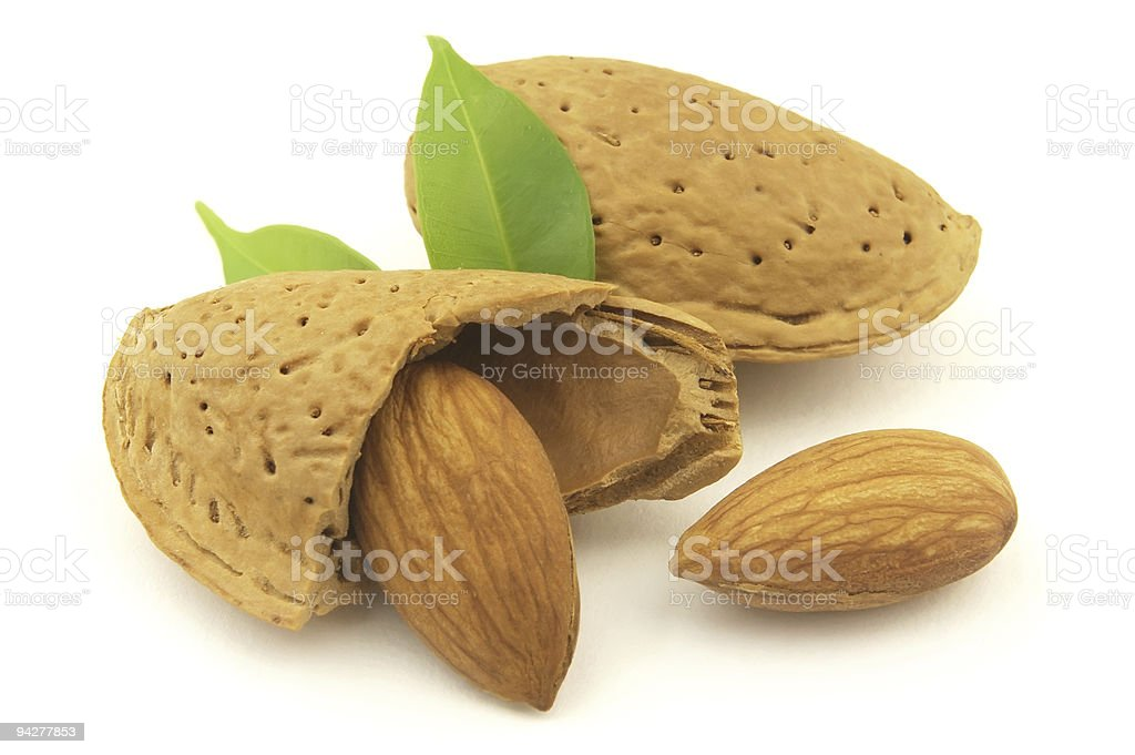 Almond and kernel royalty-free stock photo