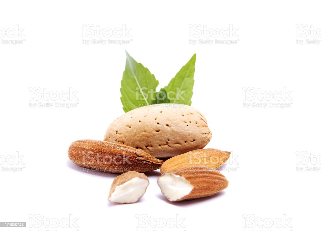Almond and seeds royalty-free stock photo