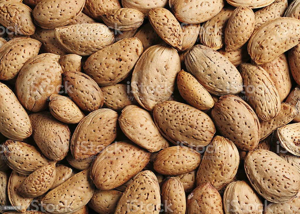 Almond background royalty-free stock photo