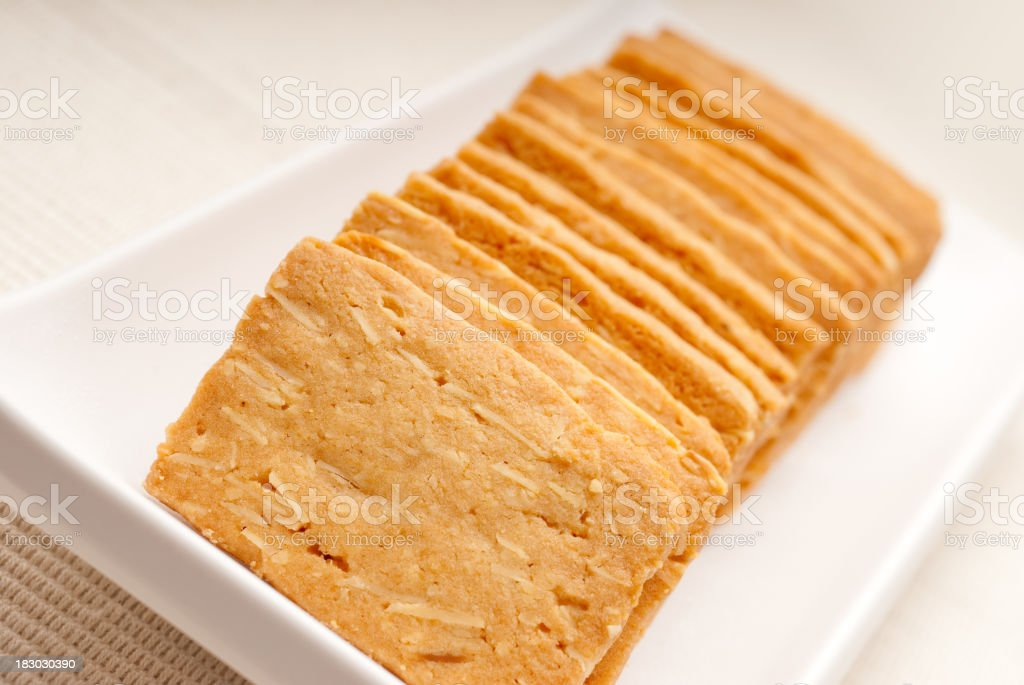 Almond Biscuit royalty-free stock photo