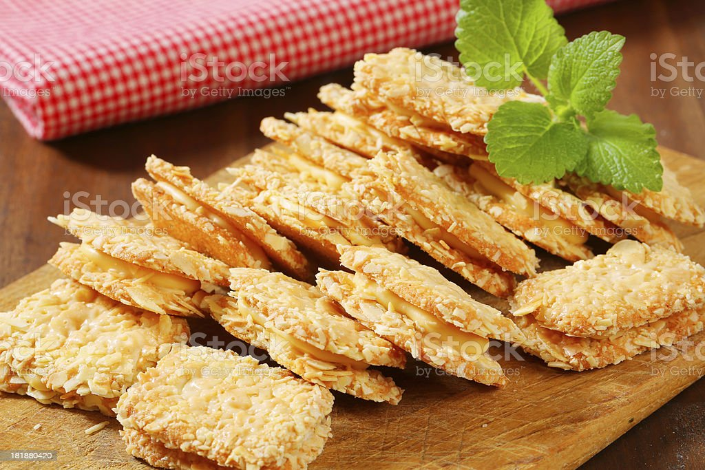 almond biscuits royalty-free stock photo
