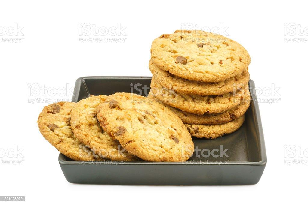 Mandorla biscotti al cioccolato foto stock royalty-free