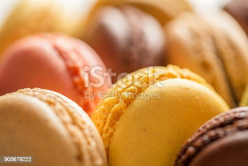 istock almond cookies macaroon like background, close up 905679222