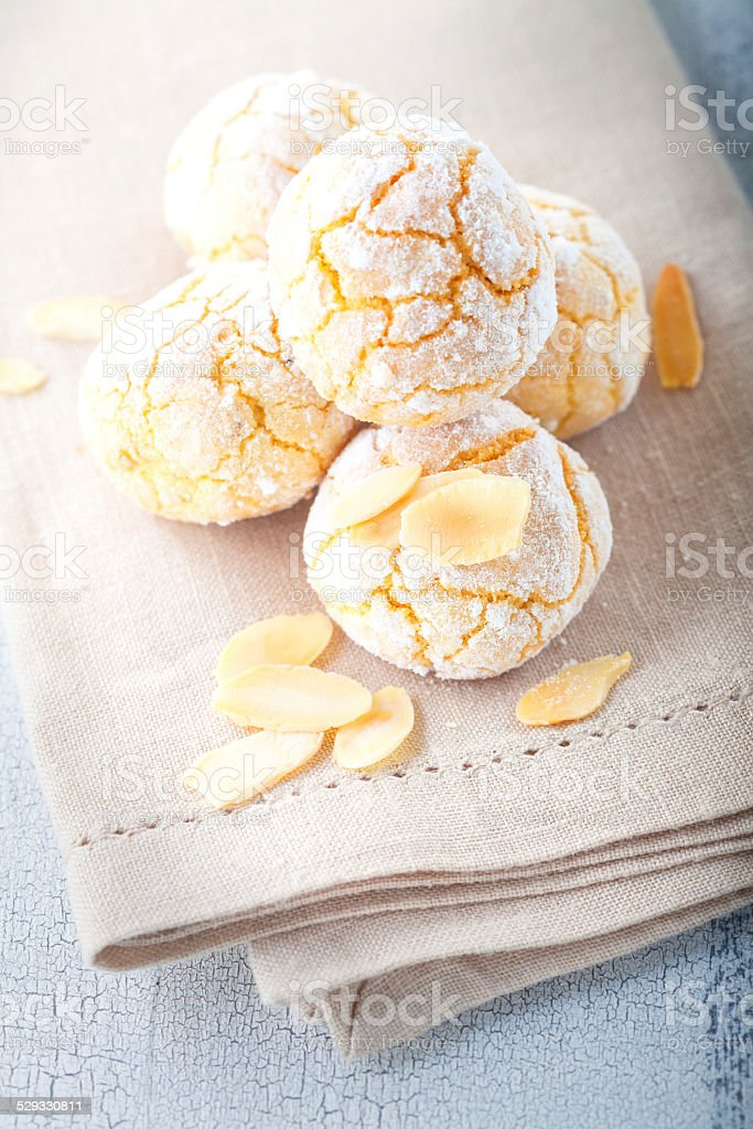 Almond Cookies stock photo