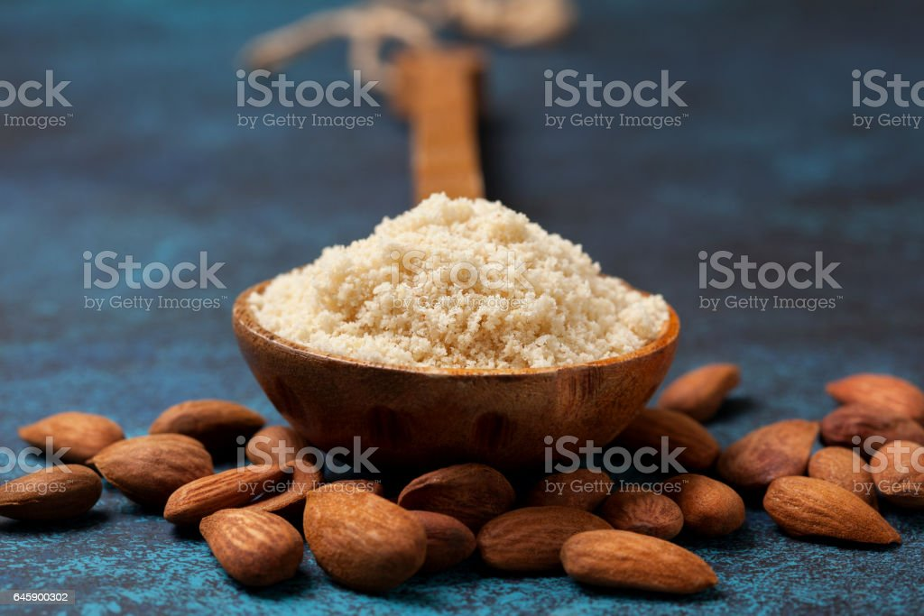 almond flour stock photo