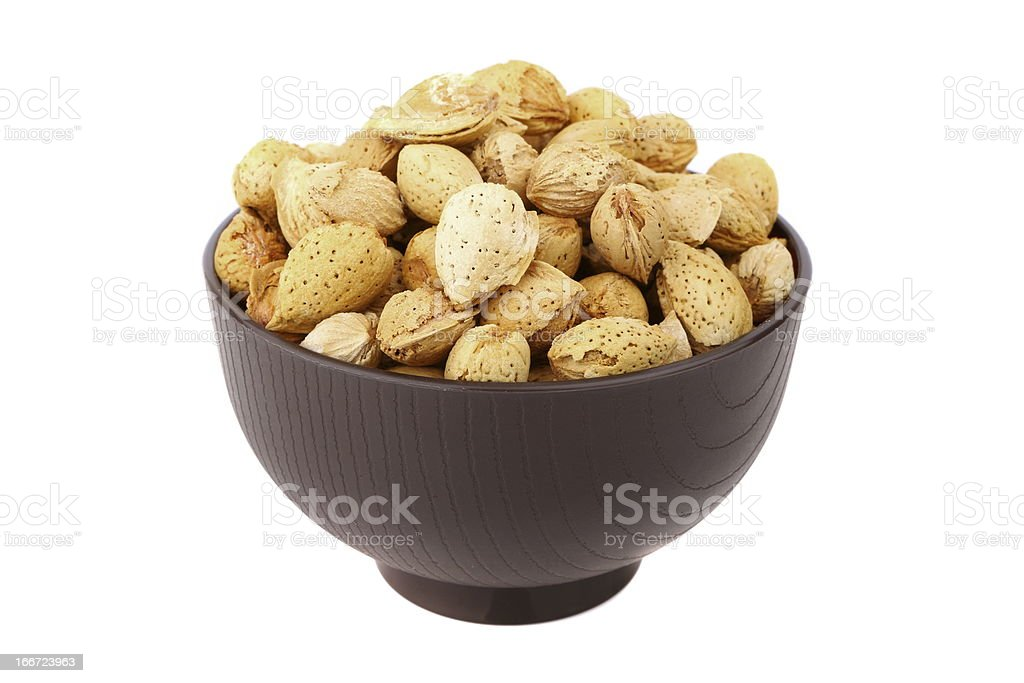 almond in the bowl royalty-free stock photo