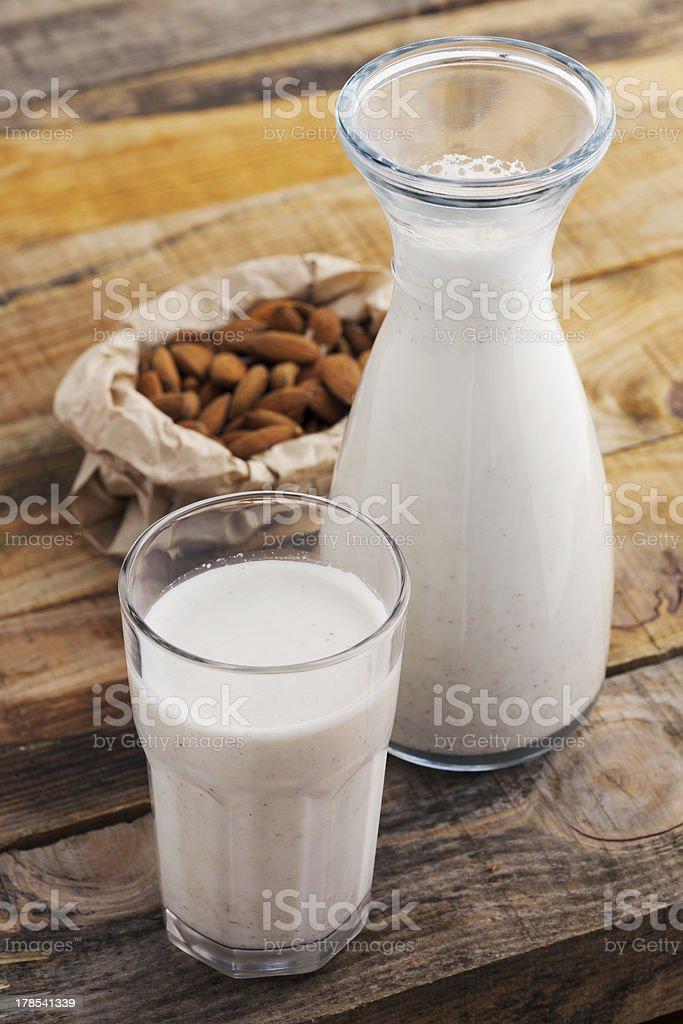 Almond milk royalty-free stock photo