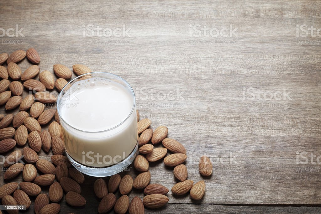 Almond Milk stock photo
