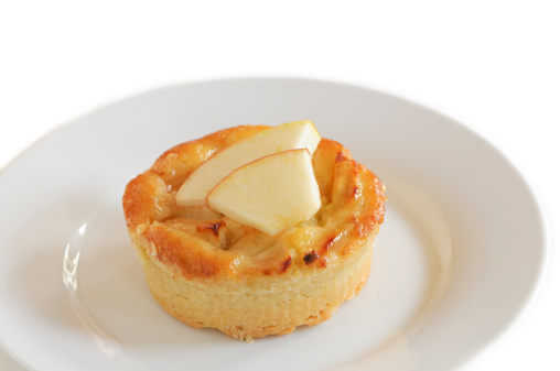 Almond pastry with apple slices