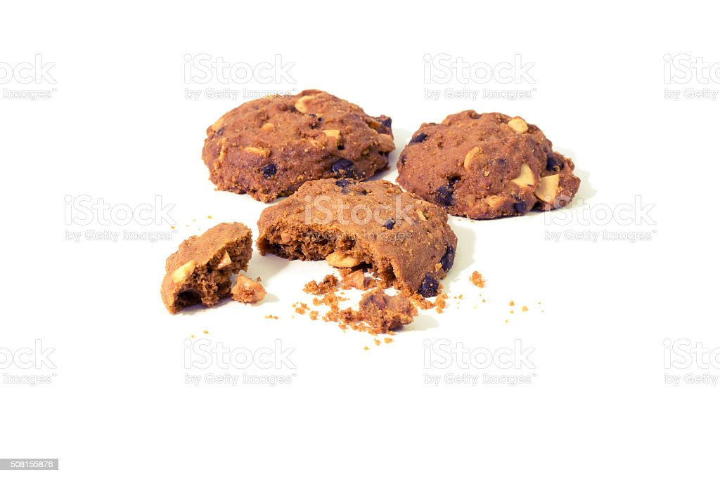 Almond Raisin Cookies stock photo