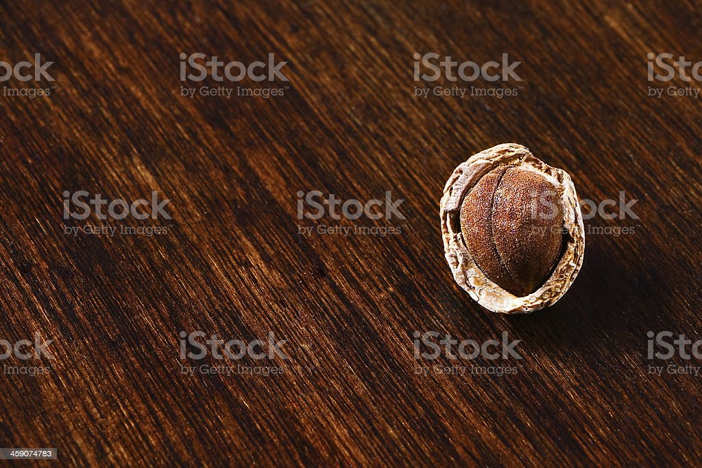 almond shelled and shell royalty-free stock photo