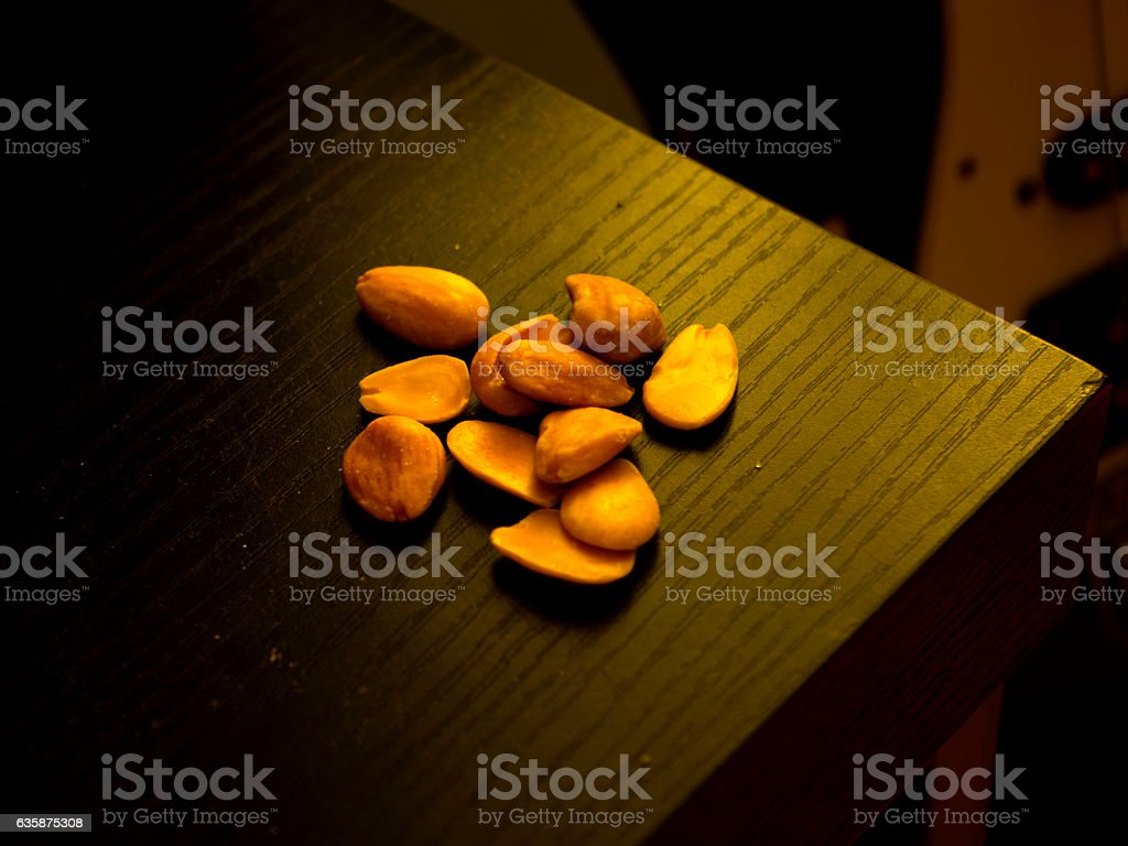 almonds and guitar stock photo