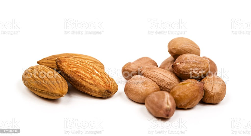 Almonds and Peanuts royalty-free stock photo