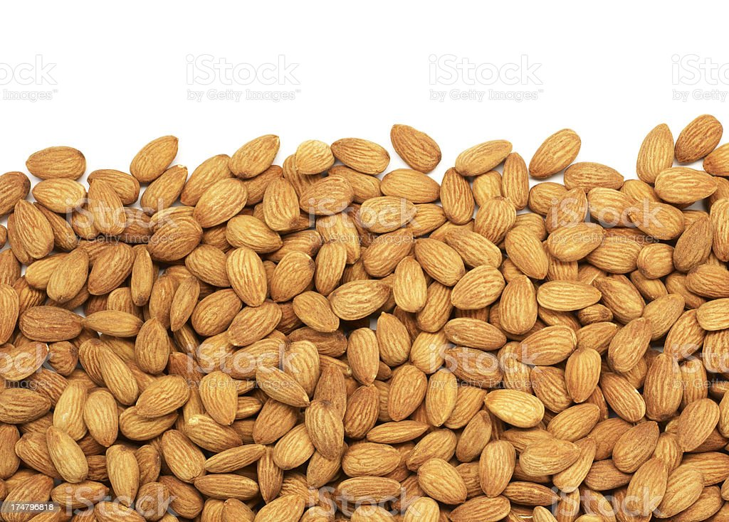 Almonds Background (Click for more) stock photo