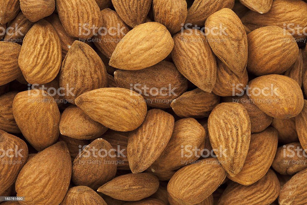 Almonds Background stock photo