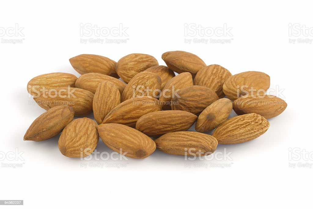Almonds close up royalty-free stock photo