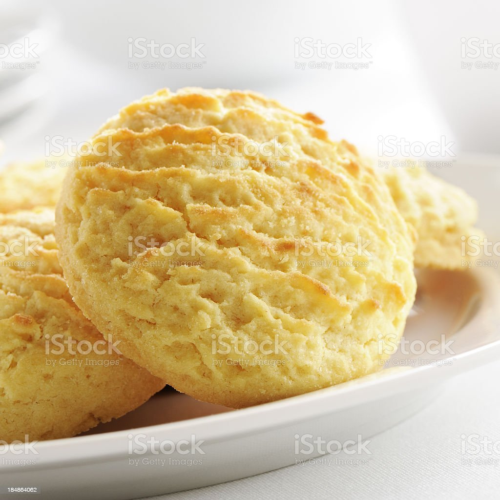 Almonds cookies stock photo