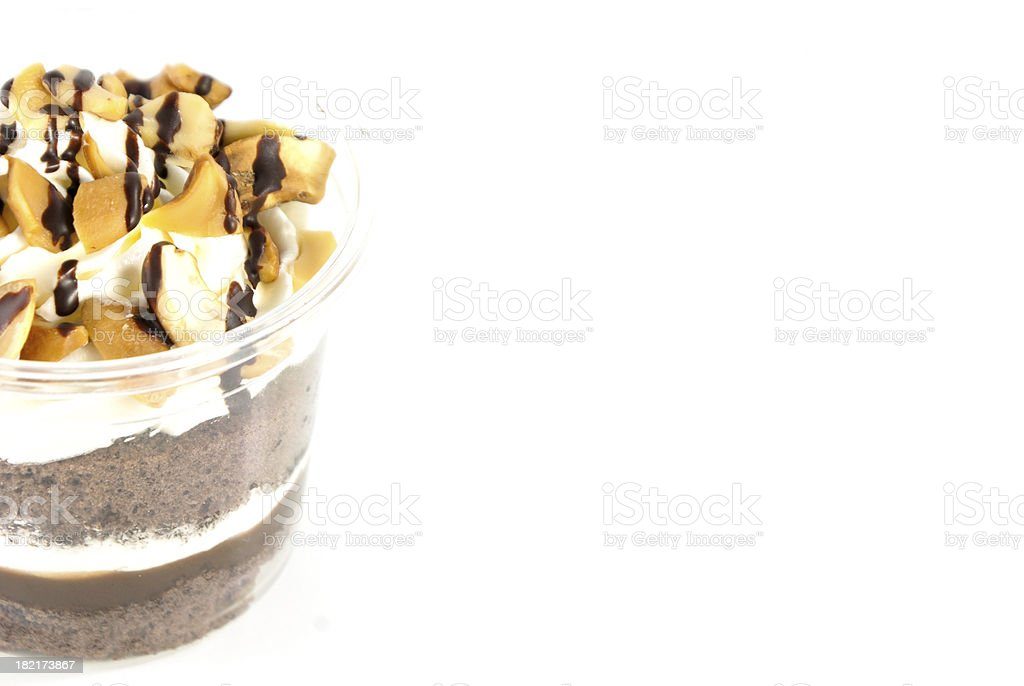 almonds cupcakes on the white background royalty-free stock photo