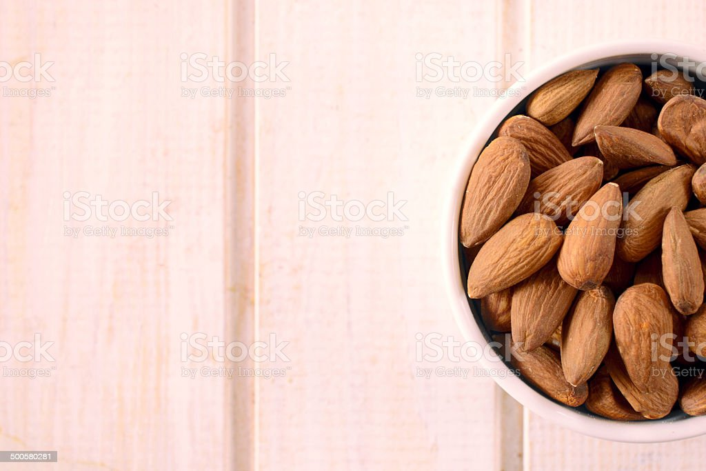 almonds in the cup stock photo
