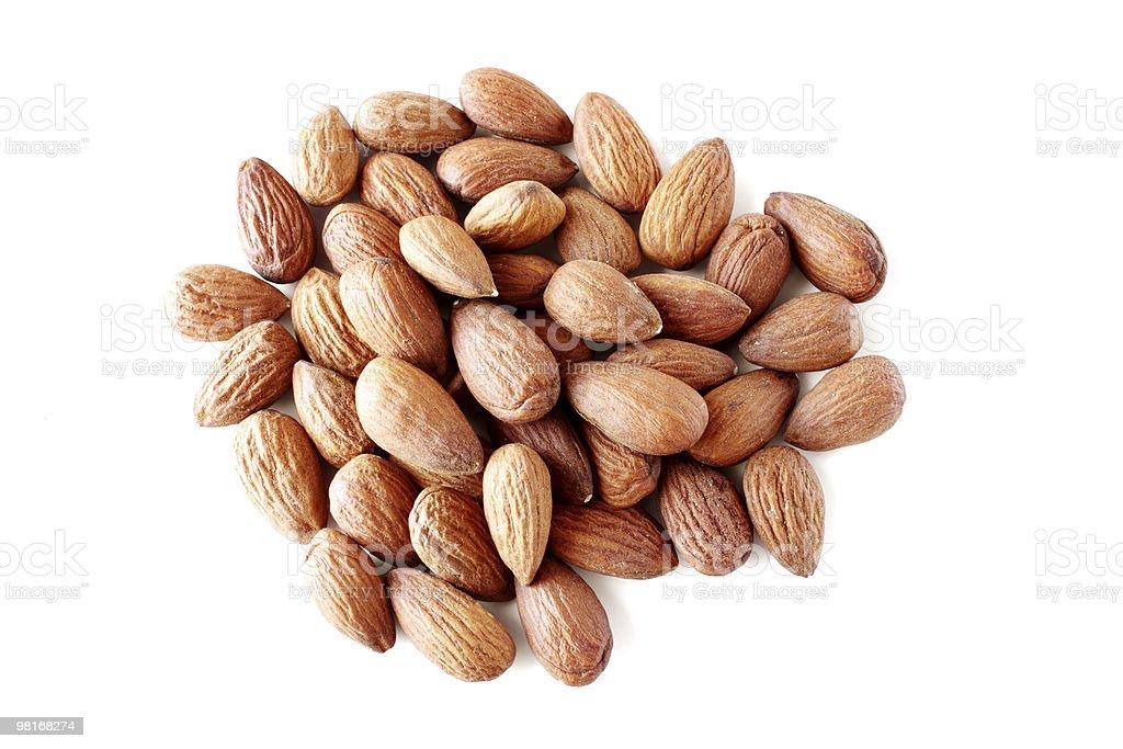 almonds on white royalty-free stock photo