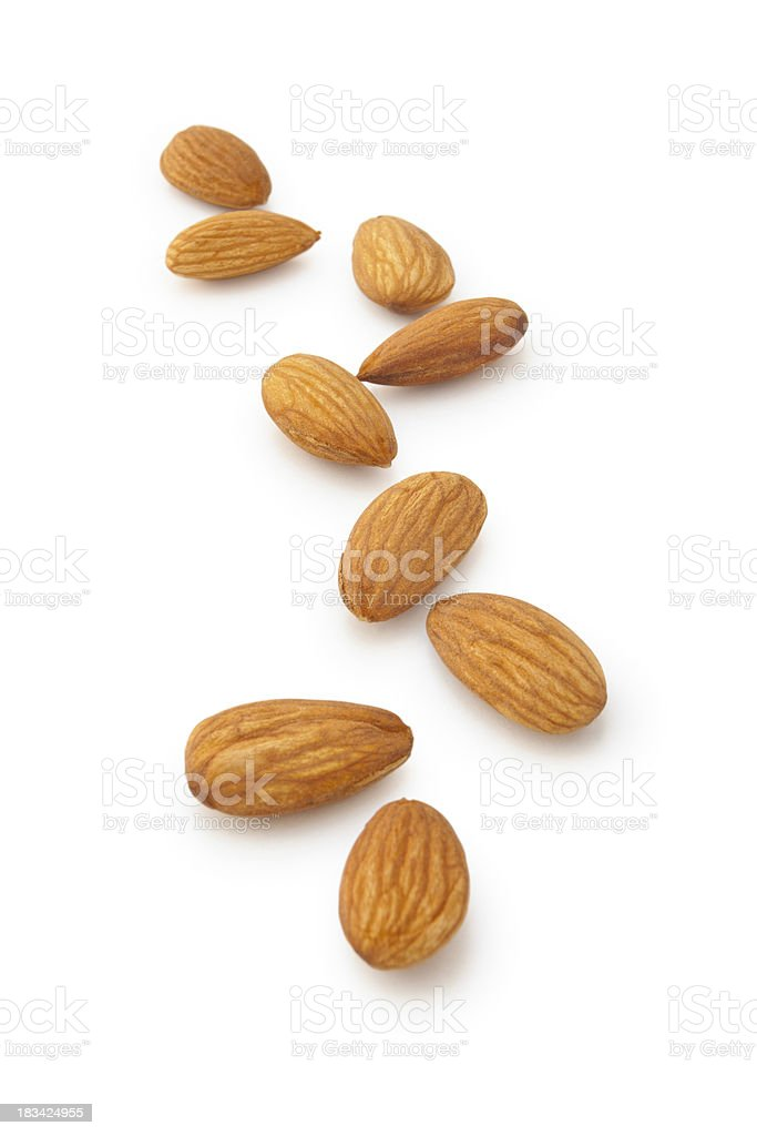 Almonds. stock photo
