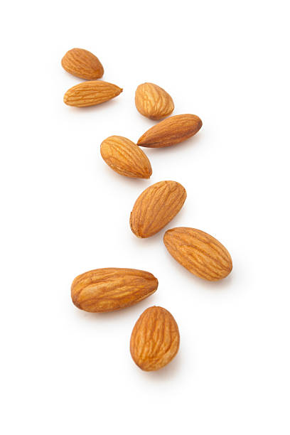 almonds. - almond stock photos and pictures