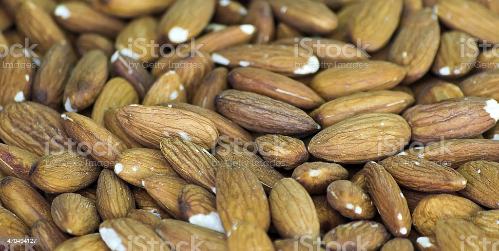 Almonds. royalty-free stock photo