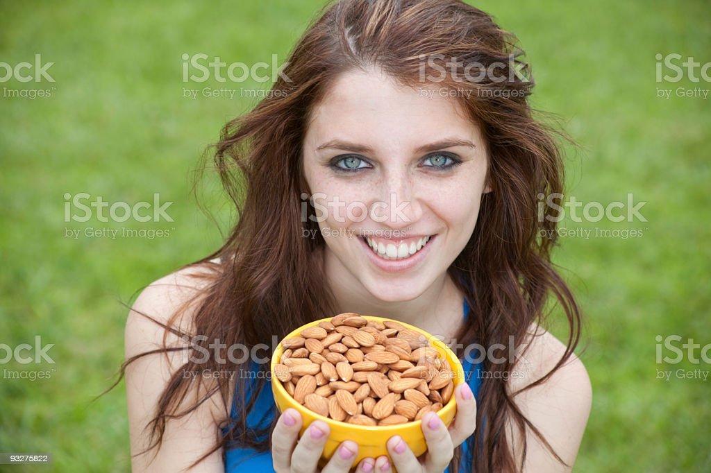 Almonds royalty-free stock photo
