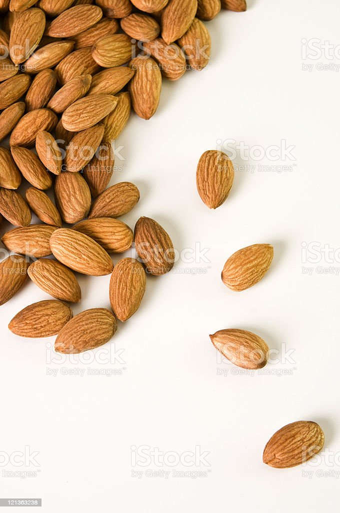 Almonds Scattered stock photo