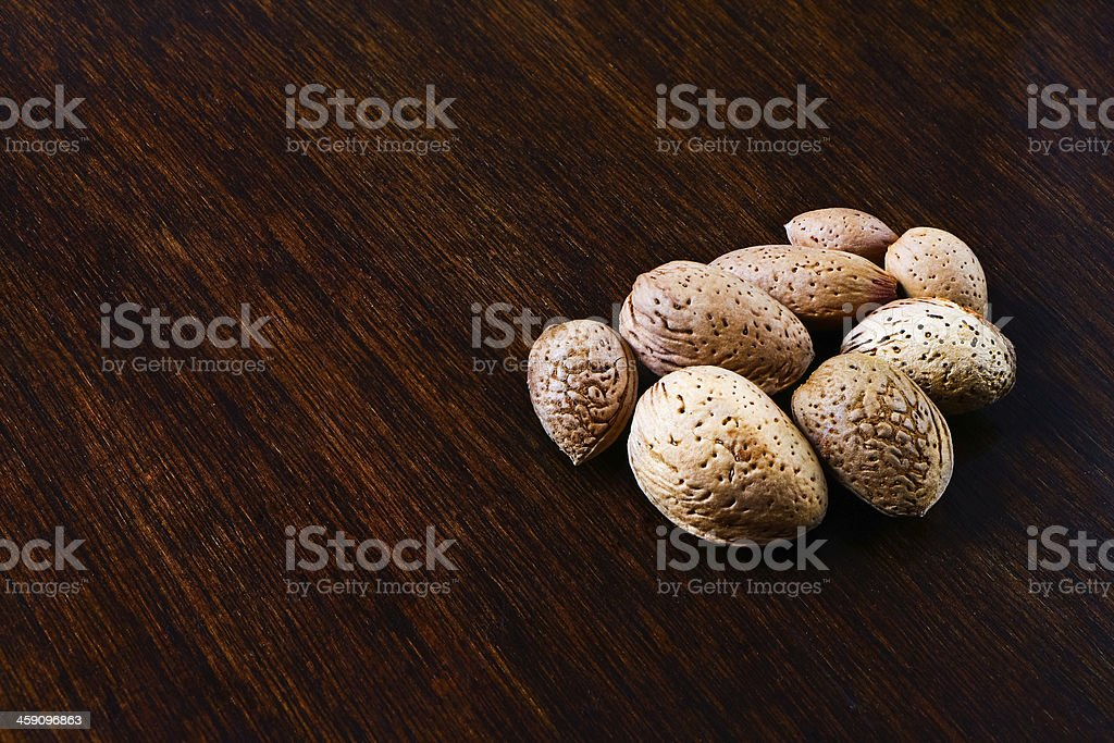 almonds with shell royalty-free stock photo
