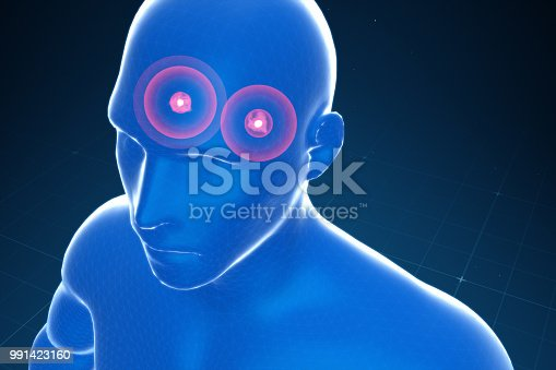 istock Almond-shaped body in the brain emitting fear, panic, anxiety 991423160
