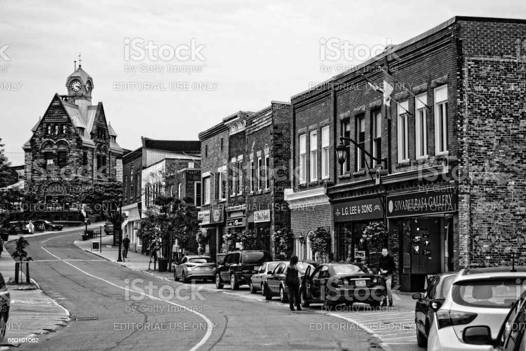 Almonte, ON, Canada old downtown stock photo