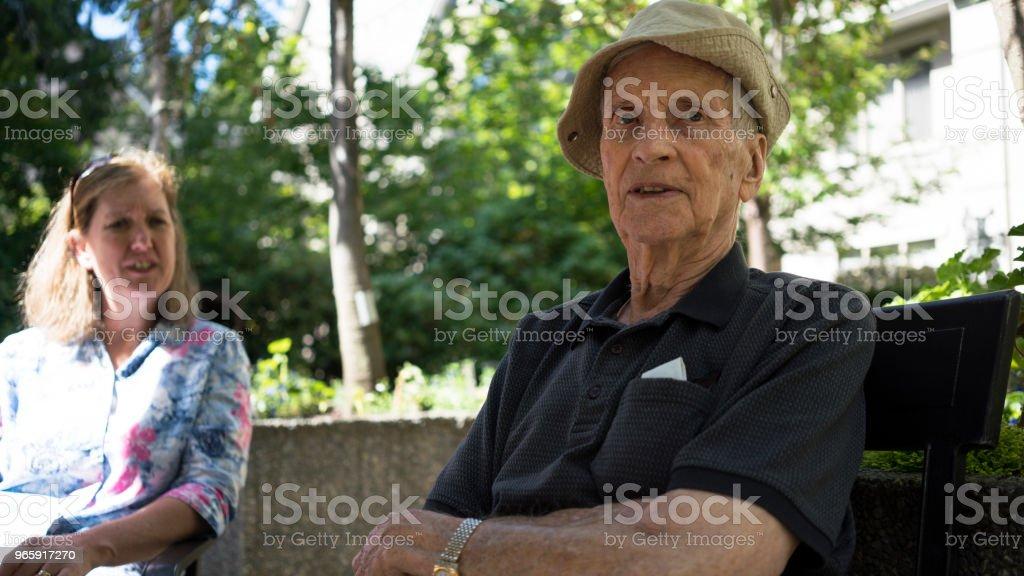 Bijna 100 jaar oud - Royalty-free Alleen volwassenen Stockfoto