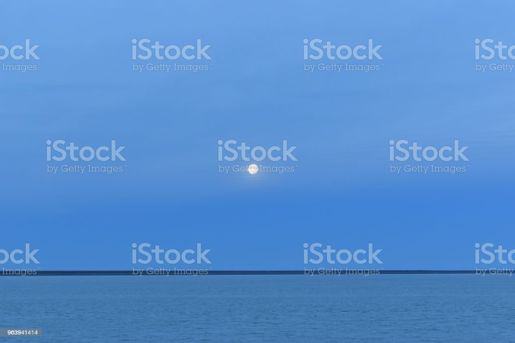 Almost full moon at sunset - Royalty-free Argentina Stock Photo