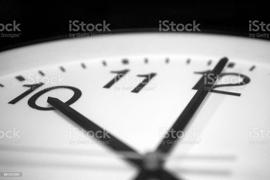Almost ten o'clock stock photo