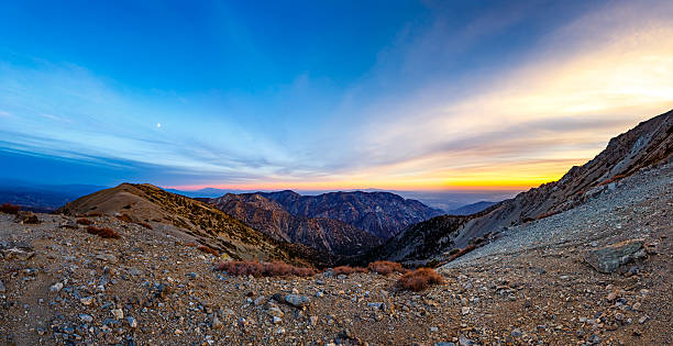 Almost There Moon hike up Mount San Antonio / Baldy mount baldy stock pictures, royalty-free photos & images