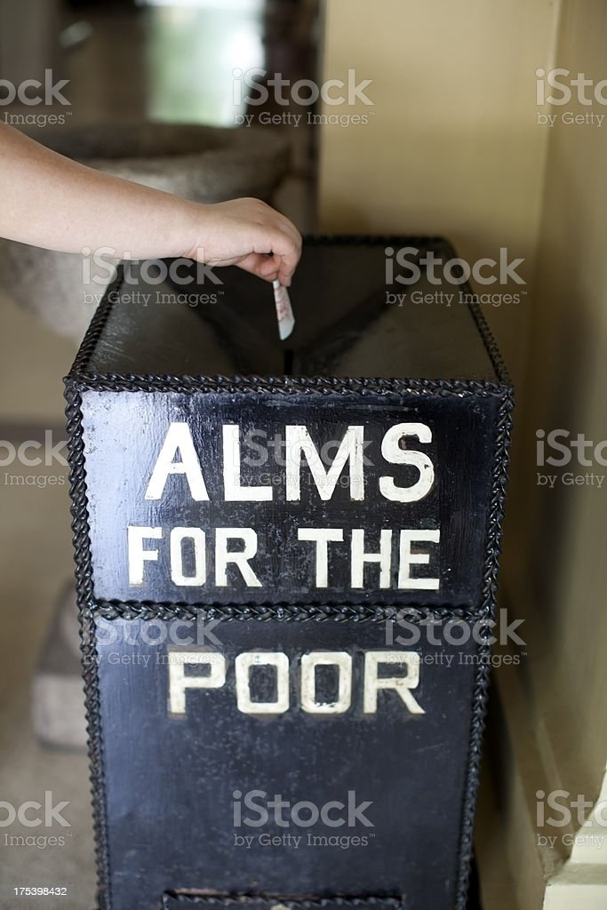 Alms for the Poor stock photo