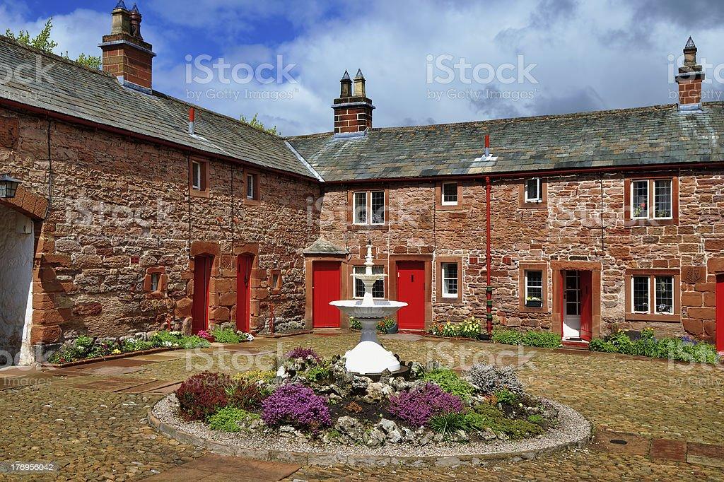 Almshouse in Appleby stock photo