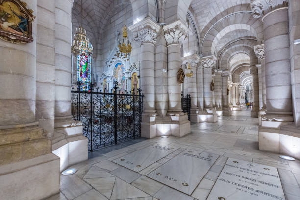 almudena cathedral in madrid, spain - crypt stock pictures, royalty-free photos & images