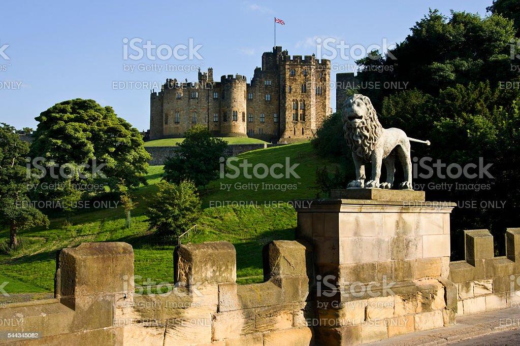 Alnwick Castle - Northumberland - England stock photo