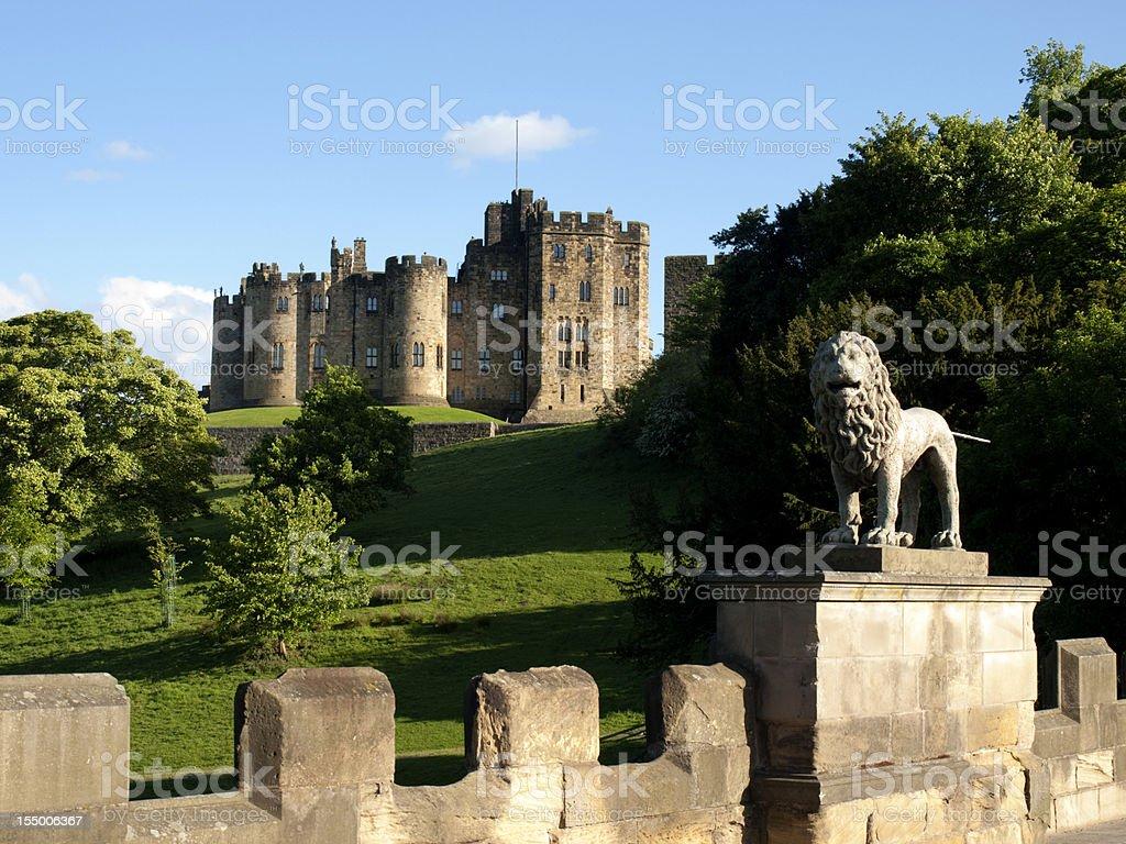 Alnwick Castle, Northumberland royalty-free stock photo