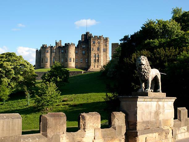 Alnwick Castle, Northumberland stock photo