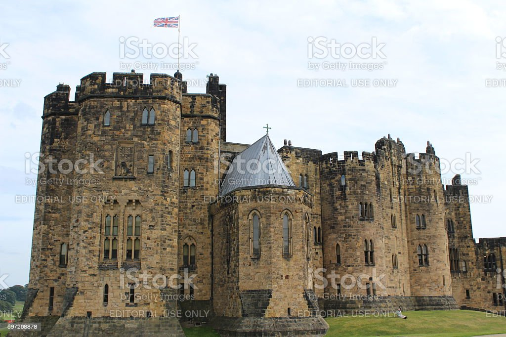 Alnwick Castle royalty-free stock photo