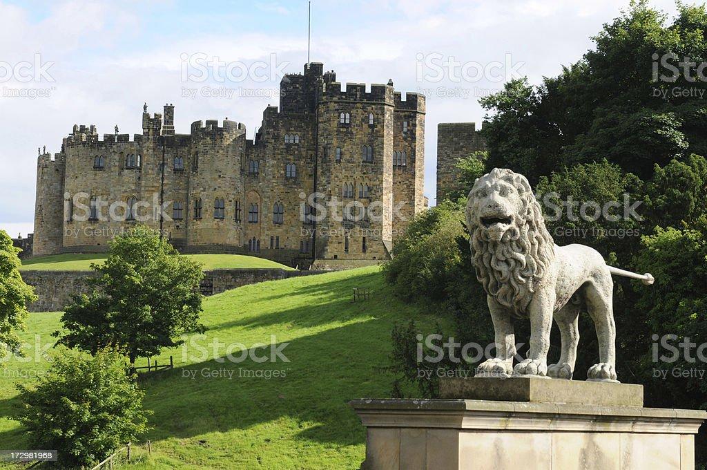 Alnwick Lion stock photo