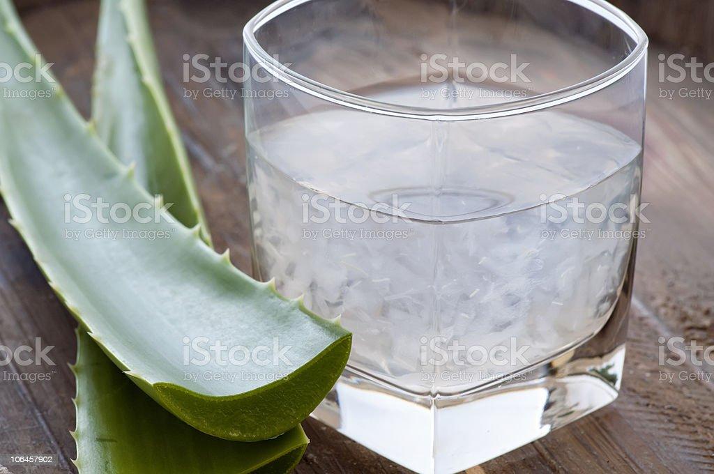 Aloe Drink stock photo